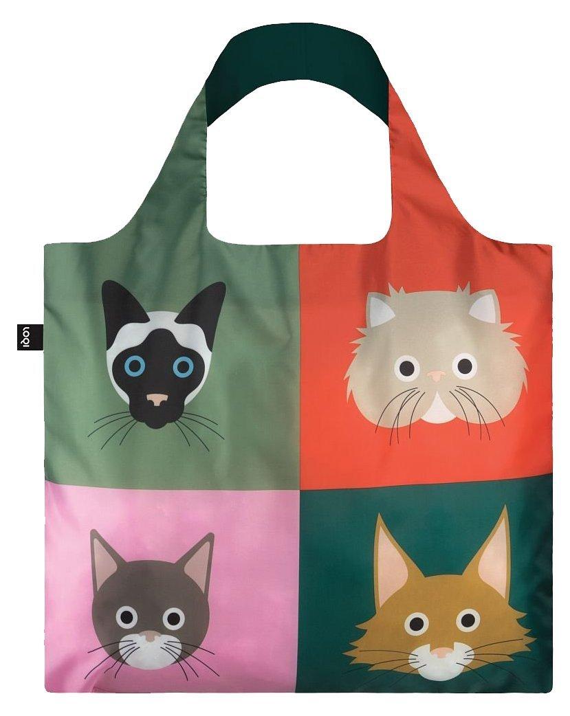 LOQI STEPHEN CHEETHAM sac sac poignée de Voyage, 50 cm, des chats SC.CA