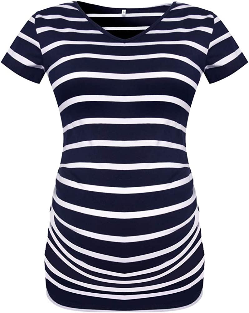 Vevarble Womens Maternity Shirts Clothes Pregnant Casual Tunic Tops Mama Clothing