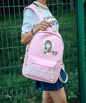 WILRND Home Mochilas de Personalidad Chica de Dibujos Animados Mochila de Personalidad Mochila de Estudiante de Moda Mochila: Amazon.es: Hogar