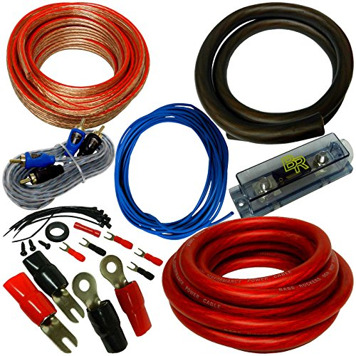 Bass Rockers 0 AWG 5000W Complete Amp Install Kit - Wire Kit Pre
