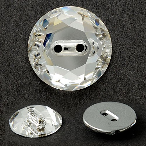 Swarovski Sewing Rhinestones (12mm Swarovski 3014 Sew On Button by 2 pcs, Crystal)