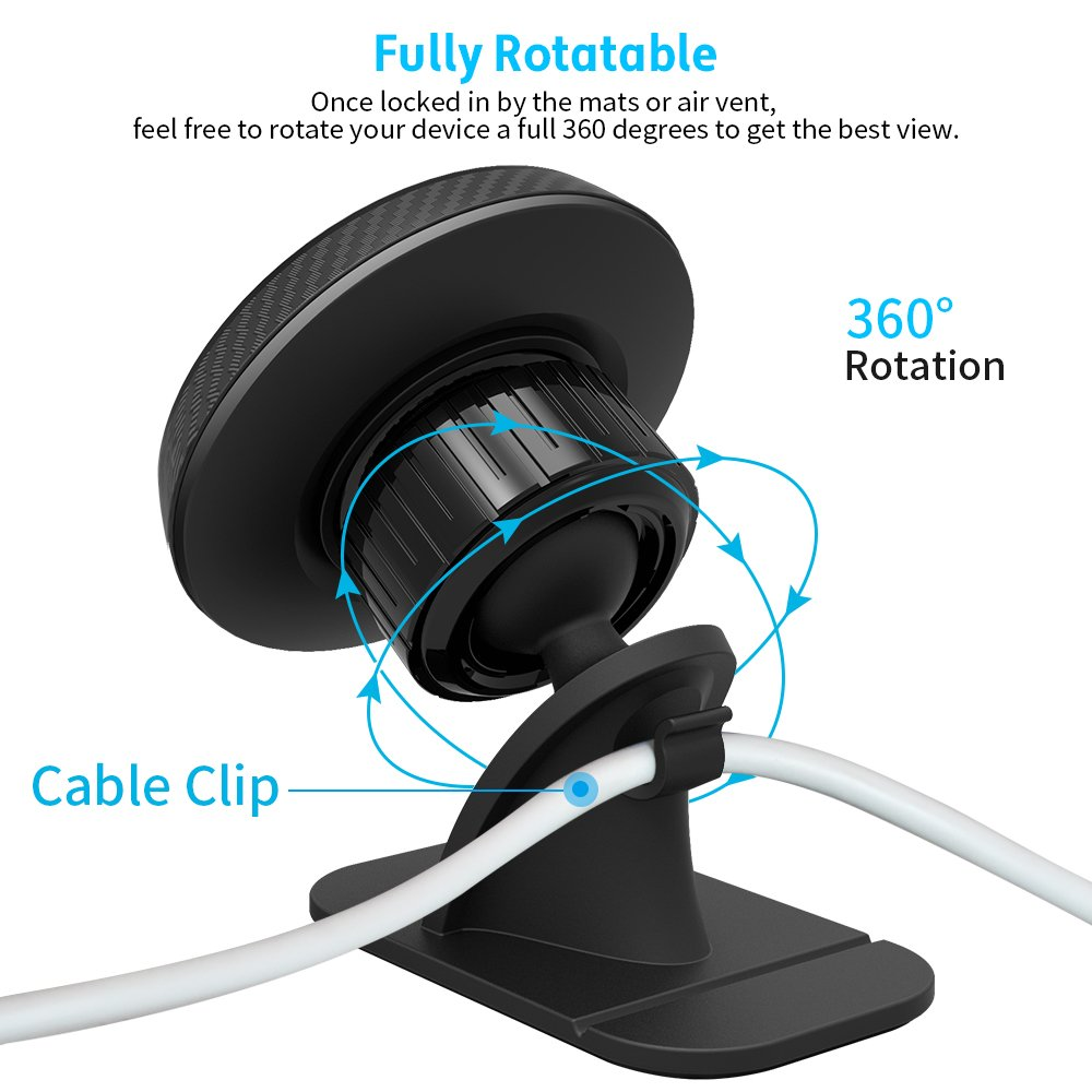 APPS2Car Universal Cell Phone Holder for Car Built-in Amazing Powerful Magnets,2-in-1 Vent /& Dash Magnetic Phone Car Mount Wiiki-tech M03-T2-AV2S-Vir Magnetic Phone Car Mount 6 Powerful Magnets