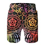 Men White Mexican Sugar Skull Quick-Dry Lightweight Fashion Board Shorts Swim Trunks XL