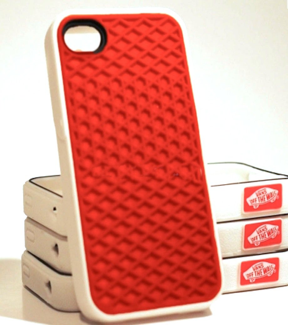 iPhone 5 Silicone Rubber Sole Vans RED with White Side Waffle Case ...