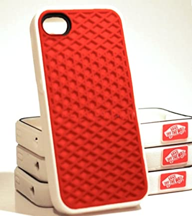 brand new b1097 c6de5 iPhone 5 Silicone Rubber Sole Vans RED with White Side Waffle Case ...