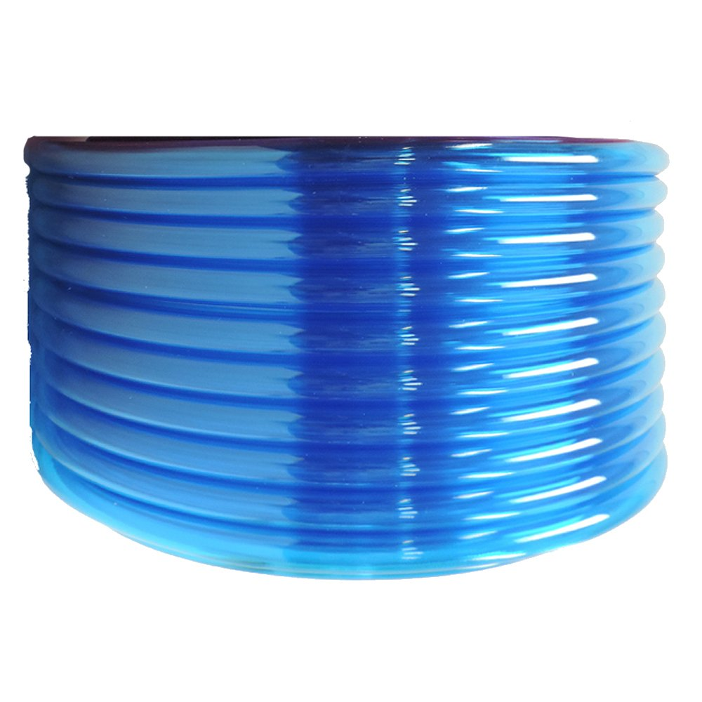 HydroMaxx® Flexible Non-Toxic BPA Free Translucent Colored Vinyl Tubing - Blue - 1/2'' ID x 5/8'' OD x 100 ft