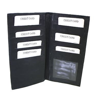 Amazon.com: Piel Auténtica Tarjeta De Crédito cartera, Color ...