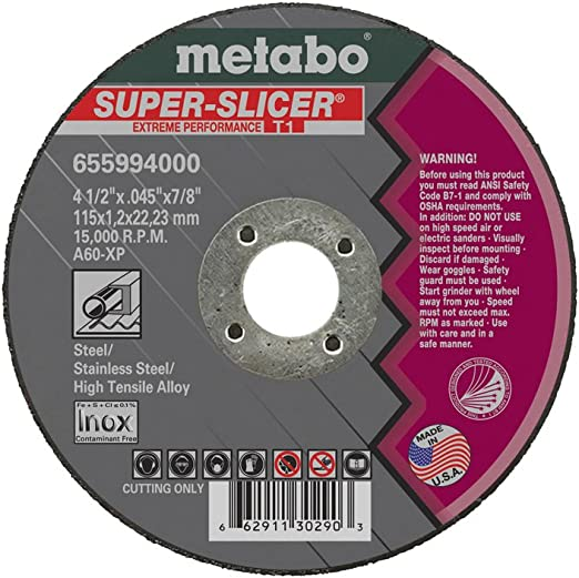 Metabo 55998 50pk SLICER-PLUS High Performance Cutting Wheel New