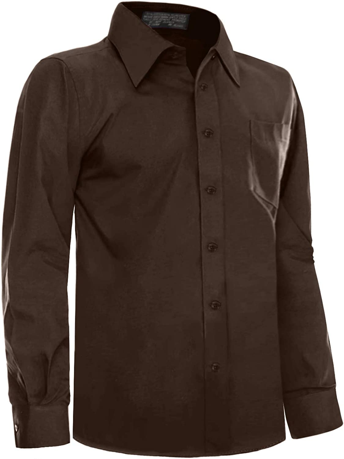 NE PEOPLE Mens Classic Regular Fit Button Down Long Sleeve Solid Color Dress Shirts S-5XL