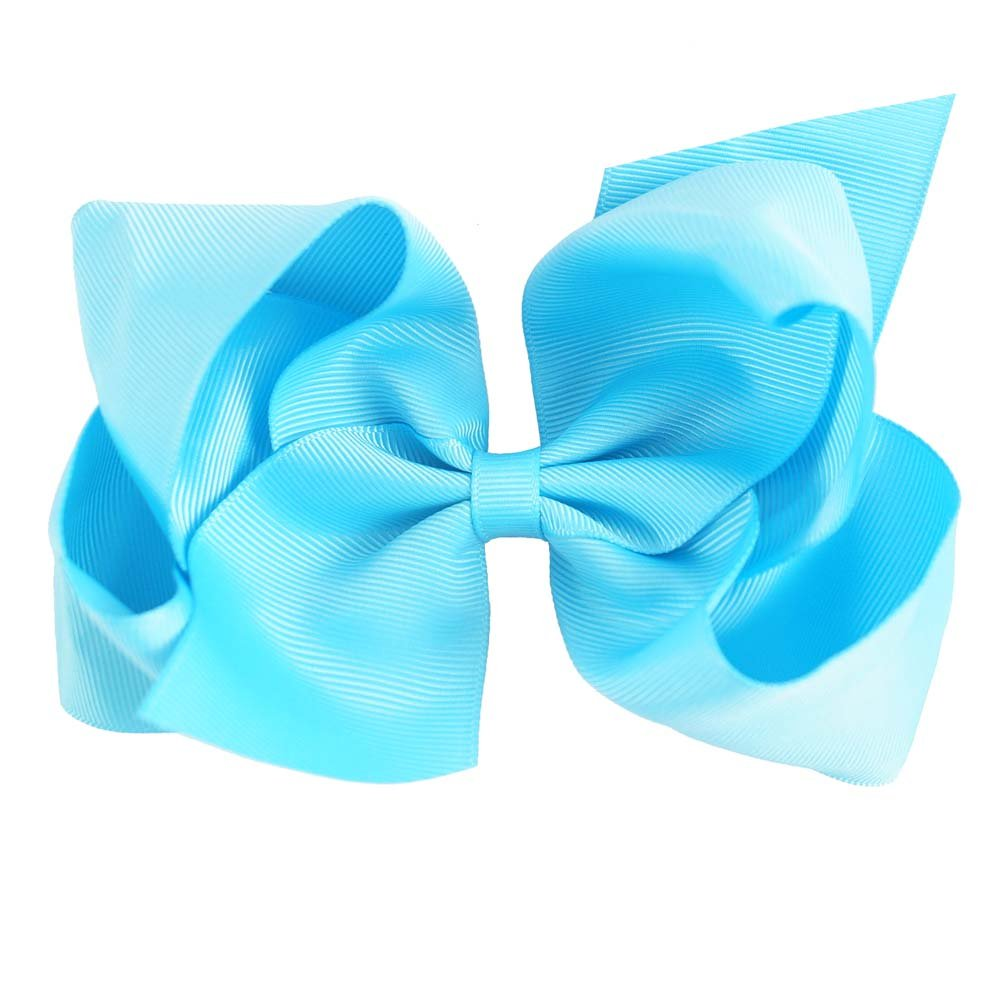 Handmade Girls Poppy Hair Bow Clips Sold In Pairs