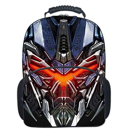 3D Transformers Childrens School Backpack Lightweight Teens Backpacks For Boys And Girls School Bags 8-15 Year Old,Blue-4230.518cm