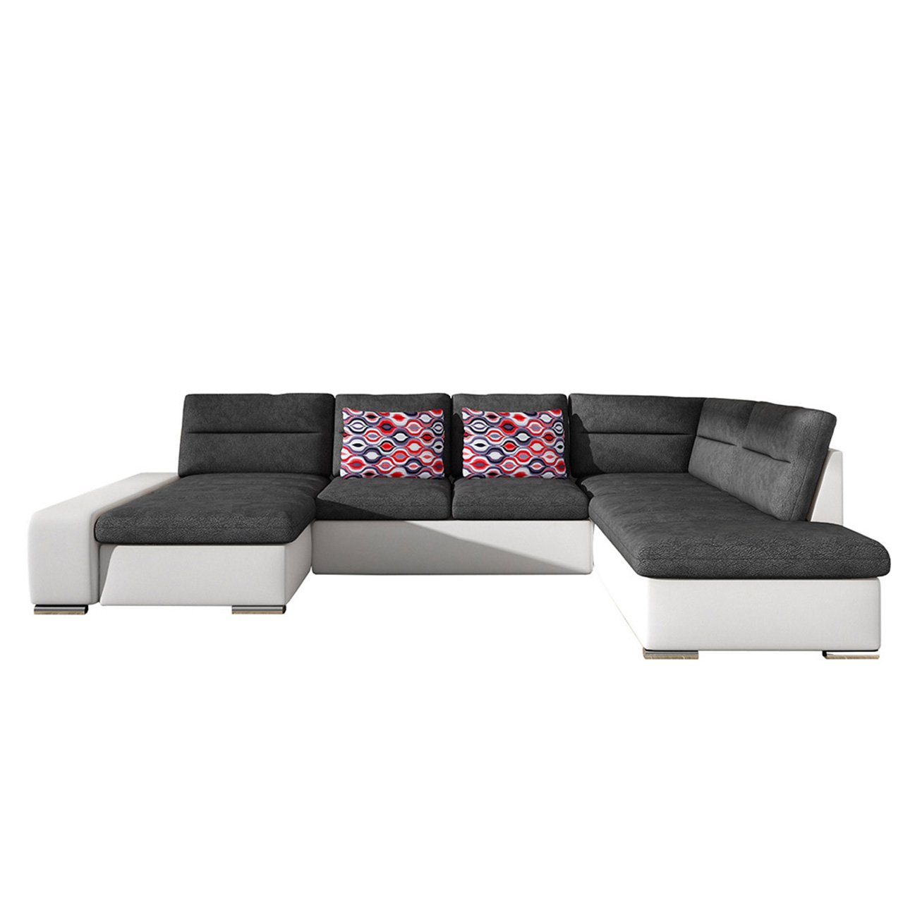 design ecksofa togo gro es eckcouch mit schlaffunktion und bettk sten modern wohnlandschaft. Black Bedroom Furniture Sets. Home Design Ideas