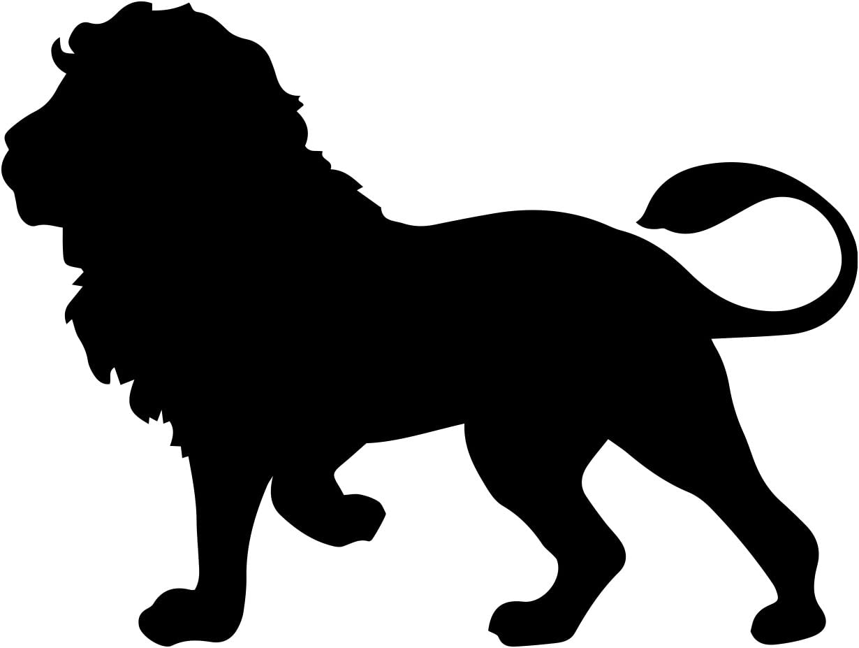 "Bargain Max Decals Standing Lion Silhouette Decal Notebook Car Laptop 5.5"" (Black)"