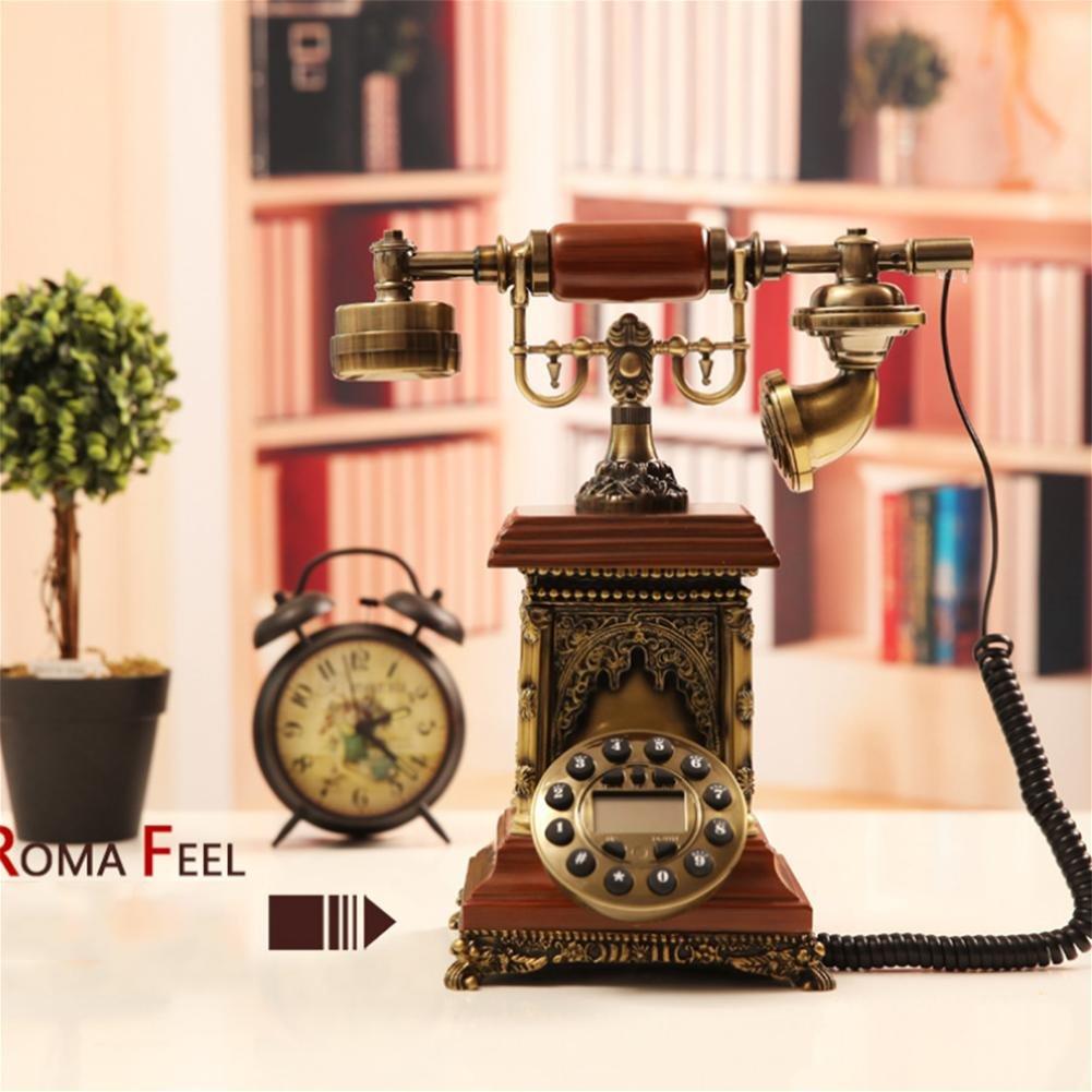 牧歌的なレトロな電話ビンテージ模造木製アンティークの landline ホームオフィスアンティーク電話、 904 B07C1PQ24Z 904 904