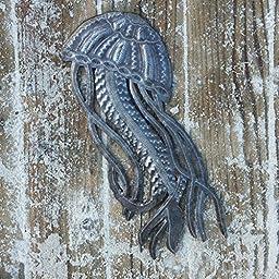 Jellyfish, Ocean Beach, Nautical Decor, Haitian Metal Wall Art 17\