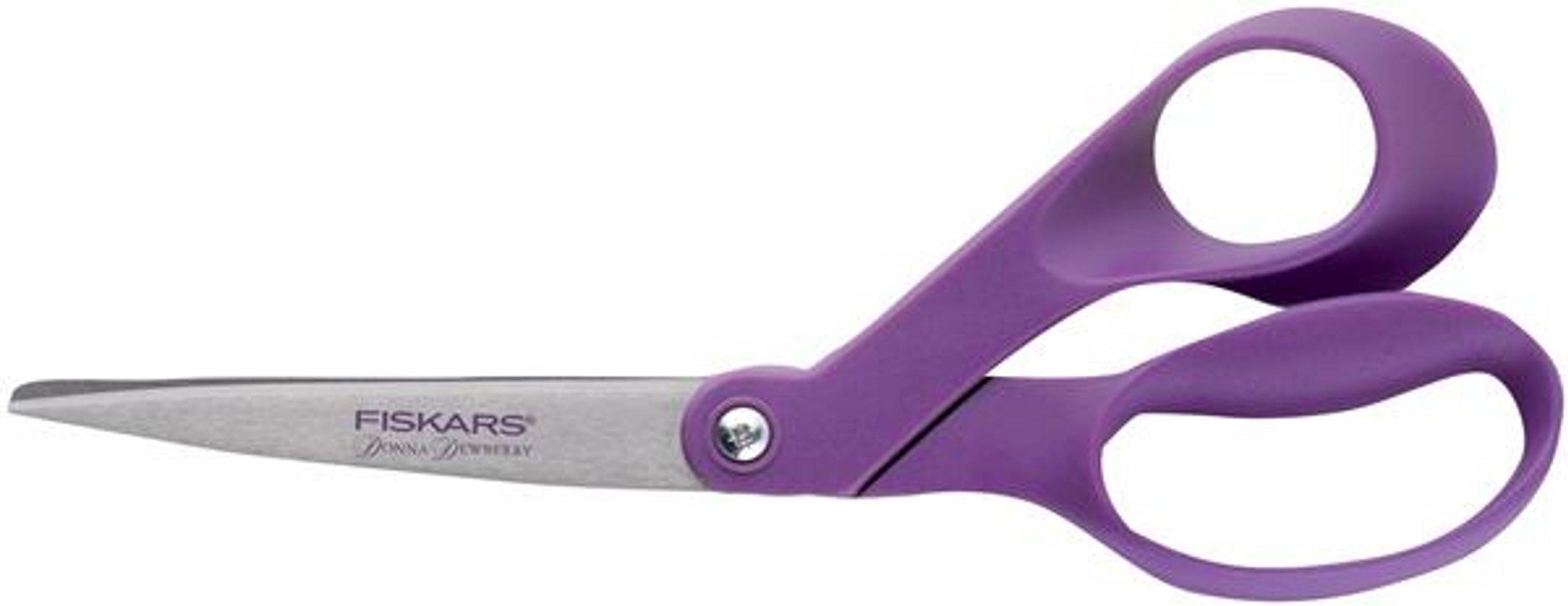 Fiskars 8-Inch Donna Dewberry Collection Classic Bent Scissors