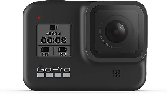 TALLA Sin Tarjeta de memoria. GoPro HERO8 Black - Cámara de acción Digital 4K Resistente al Agua con estabilización hipersuave, Pantalla táctil y Control de Voz