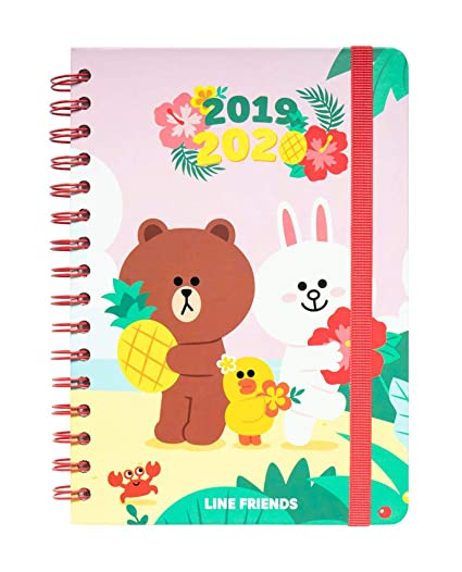 Agenda escolar 2019/2020 A5 12 meses Line Friends: Amazon.es ...