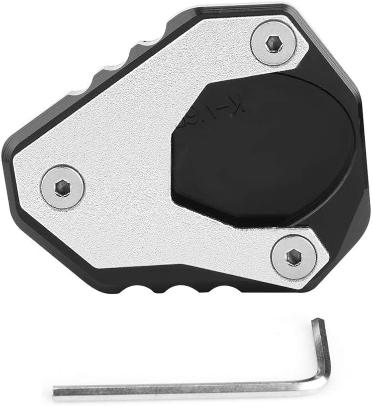 Kimiss Motorrad Kickstand Pad Cnc Kickstand Seitenständer Vergrößerer Extension Pad Für Versys Kle 650 2015 2018 Aluminiumlegierung Und Edelstahl Auto