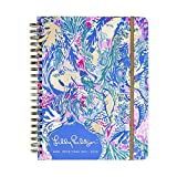 Lilly Pulitzer Jumbo 17 Month Hardcover Agenda, Personal Planner, 2018-2019 (Mermaid Cove)