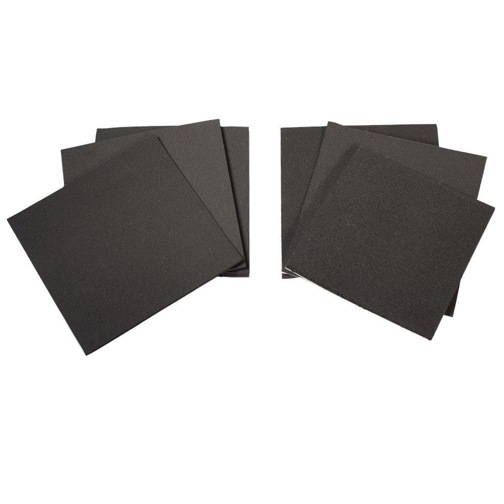 4 Inch X 4 Inch Square Sponge Neoprene Sample Adhesive/Plain - 1/4 IN, 1/8 IN, 1/16 IN. Thick