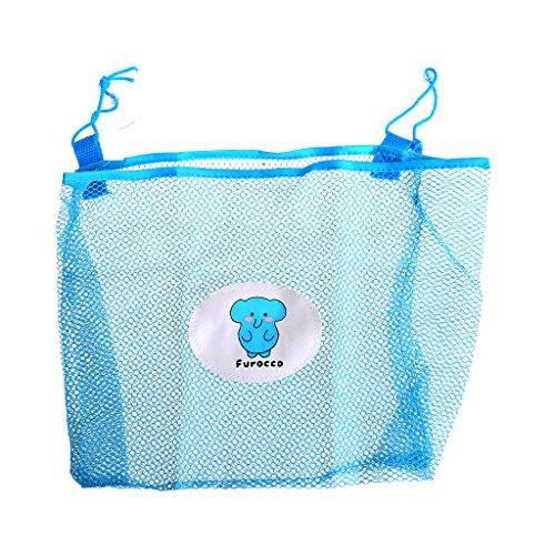 (Feamos Bath Toy Organizer Mesh Bag Net for Bathtub Toys Storage for Kids Pack of 3 (Blue))
