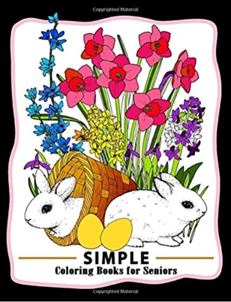 - Amazon.com: Simple Coloring Books For Seniors: Easy Coloring Pages Flower  And Animals Design For Relaxation And Stress Relief (9781974153657):  Coloring Books For Seniors, Coloring Pages For Adults, Unicorn Coloring:  Books