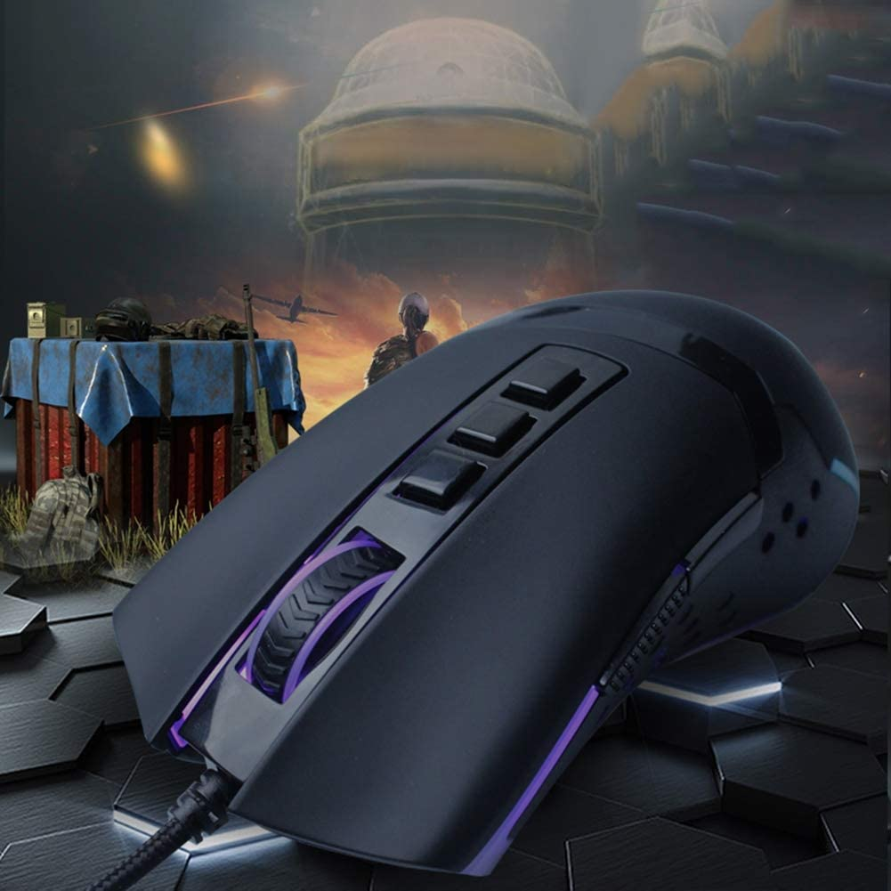 Internet Cafe Wired Mouse Eating Chicken E-Sports Competition Comes with A Gun Glowing Gaming Mouse