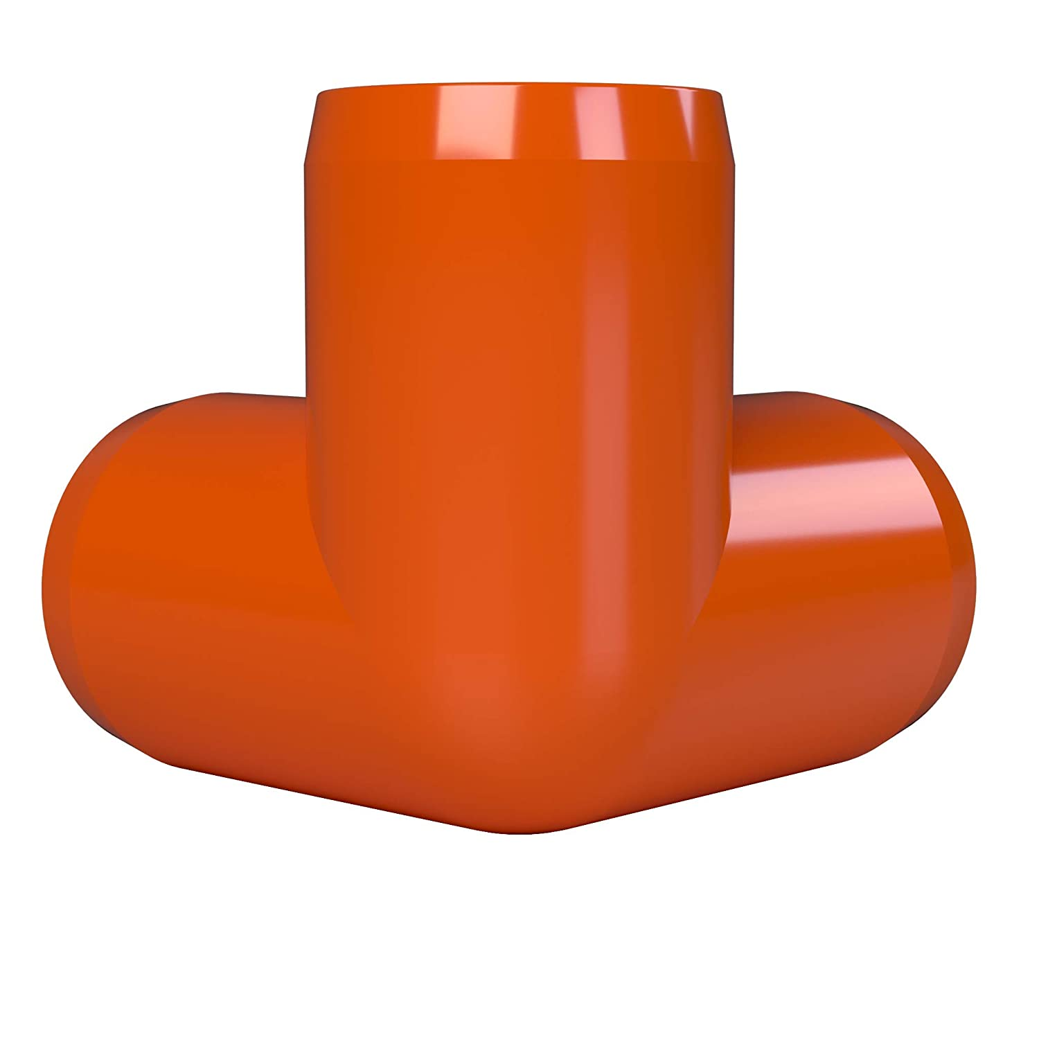FORMUFIT F1143WE-OR-4 3-Way Elbow PVC Fitting Orange Furniture Grade 1-1//4 Size Pack of 4