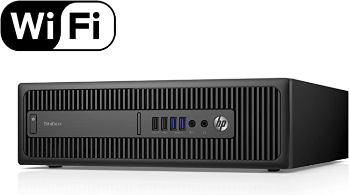 HP EliteDesk 800 G1 Small Form Desktop Computer Tower PC (Intel Quad Core i5-4570, 16GB Ram, 240GB Brand New Solid State SSD, WIFI) Win 10 Pro (Renewed) Dual Monitor Support HDMI + VGA