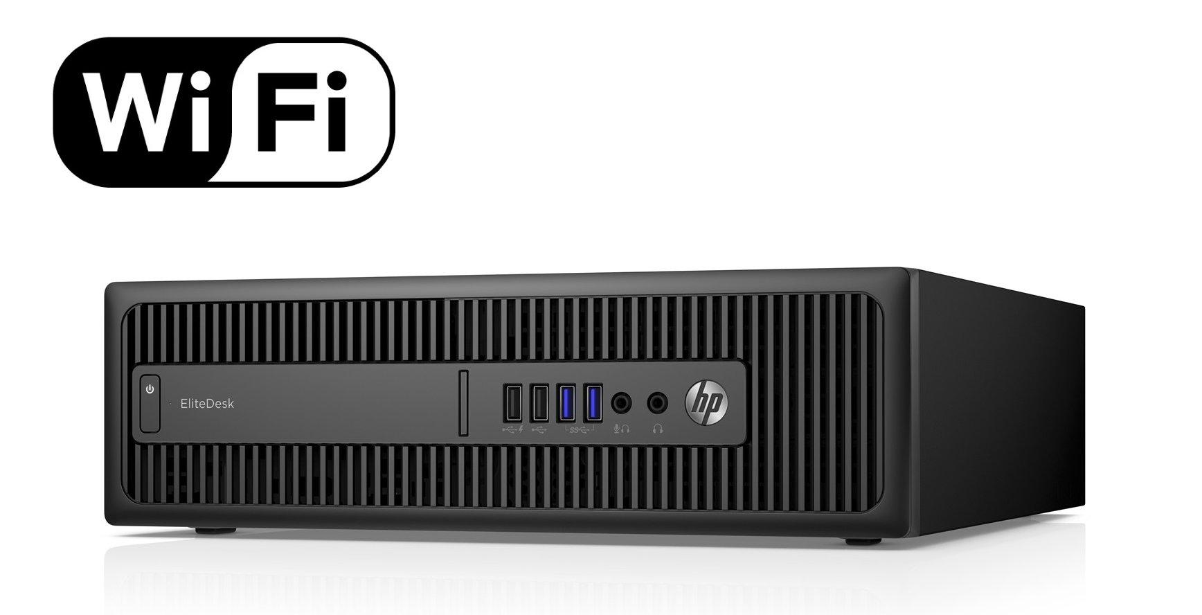 HP EliteDesk 800 G1 SFF Computer Intel i5 3.20Ghz 16GB RAM 240GB SSD Win 10 Pro (Renewed)