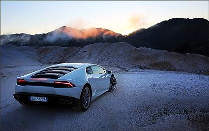 Amazon Com Innerwallz Lamborghini Huracan Back View Luxury Cars