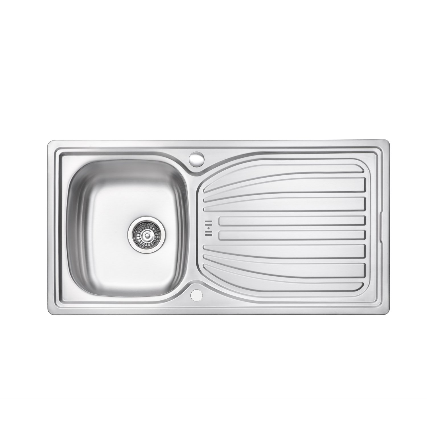 JASS Ferry 980 x 510 mm Stainless Steel Kitchen Sink Single 1.0 Bowl Reversible with Waste Pipes Clips - 10 Year Guarantee