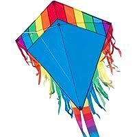 CIM Vlieger voor kinderen - Maya Eddy Blue - Dimense: 65cm x 72cm - Eenlijner - inclusief Vliegersnoer - vliegerkoord…