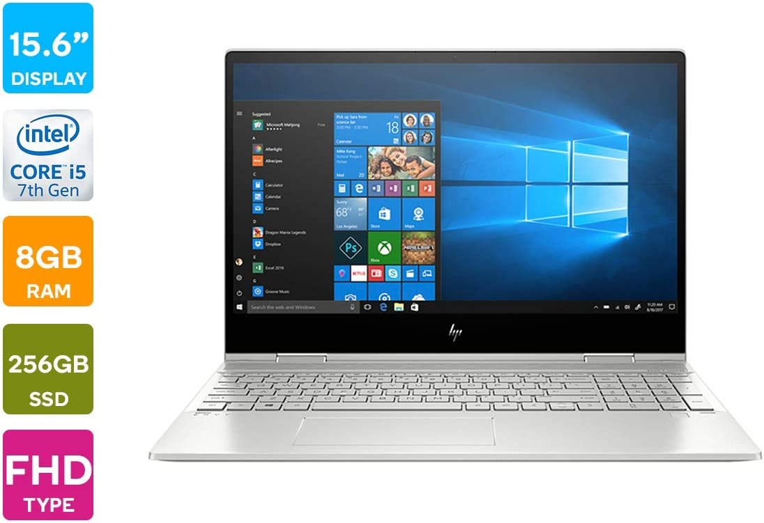 "HP Envy x360-15.6"" FHD Touch - 10th gen i5-10210U - 8GB - 256GB SSD+16GB Optane - Silver"