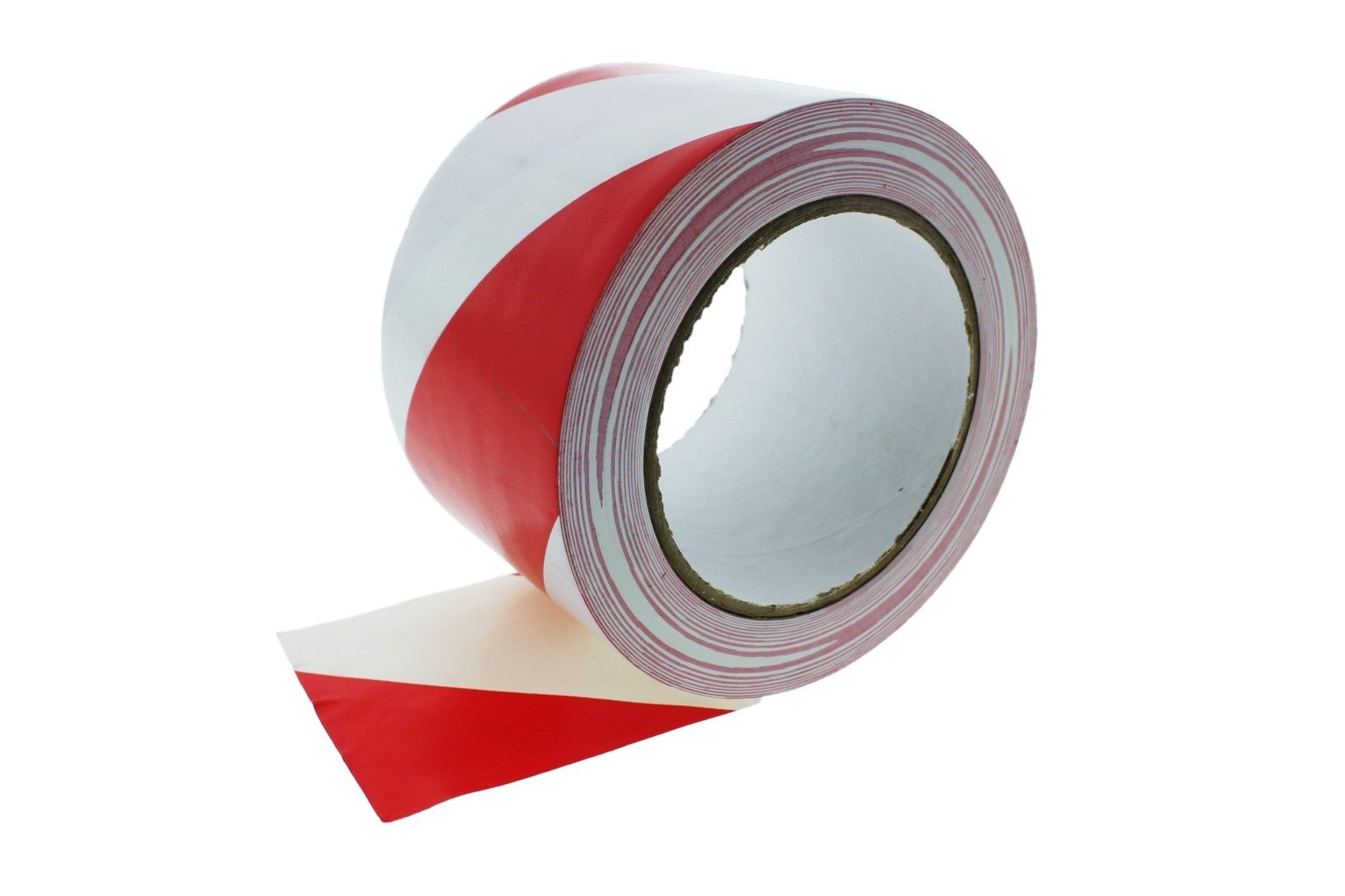 3'' Red White Stripe Vinyl Tape PVC Electrical Sealing Floor OSHA Safety Marking Natural Rubber Adhesive (2.83 in 72MM) 36 Yard 7 mil