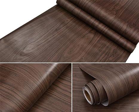 Dark Maple Wood Contact Paper Vinyl Self Adhesive Shelf Drawer Liner