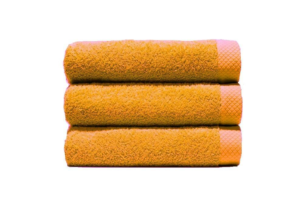 Home Basic - Juego de 3 toallas para tocador, 33 x 50 cm, lavabo, 50 x 100 cm y ducha, 70 x 140 cm, color oro: Amazon.es: Hogar