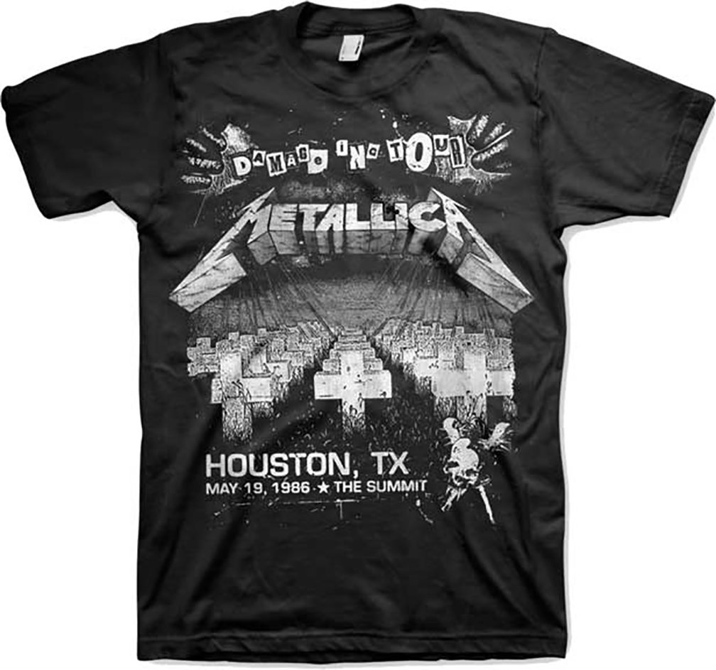 Metallica Damage On Tour S Tshirt Black
