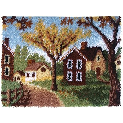 Spinrite Wonderart Latch Hook Kit, 20 by 27-Inch, Country Cottages from Spinrite