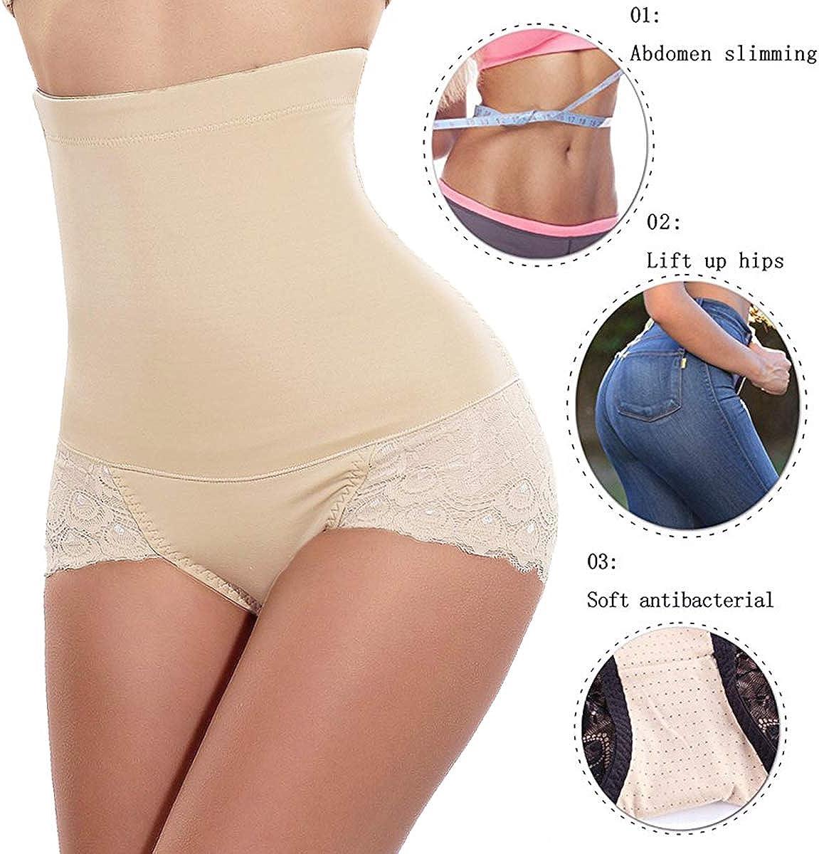JANSION Women High Waist Butt Lifter Shapewear with Tummy Control Body Shaper Panty Underwear