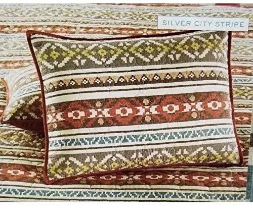Martha Stewart Collection Silver City Stripe Cotton Quilted Standard Sham