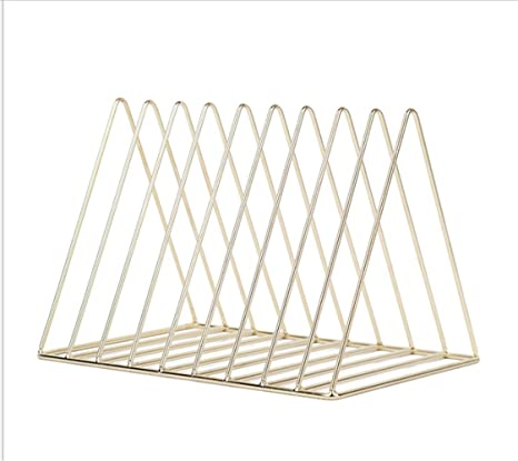 E Forest Hair Desktop Bookshelf RackOffice Triangular 9 Fold Document Finishing Storage