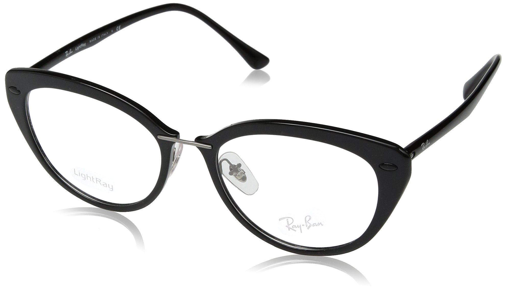 Ray-Ban RX7088 Eyeglass Frames 2000-52 - Shiny Black RX7088-2000-52 by Ray-Ban