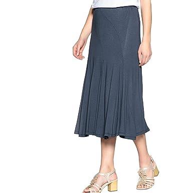 Anne Weyburn Frau Rock Mit Ausgestellter Schnittform, Unifarben, Halblang   Amazon.de  Bekleidung 8c992fdf12