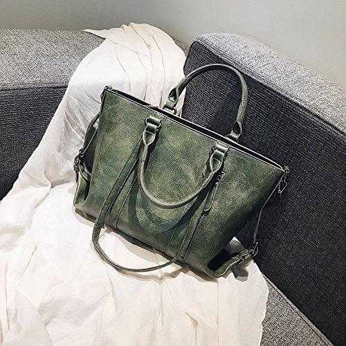 Wwf Sac interchangeable pour femme, grand sac à main rétro-européen et américain, gris clair, 35 * 12 25cm Vert