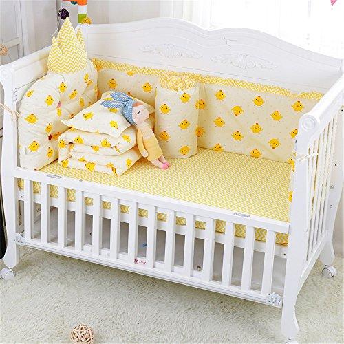 Floral Pig (Abreeze Princress Nursery Bedding Set with Bumper & Comforter 7pcs, Yellow Chicken)