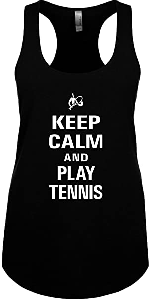 a8a643151581a Signature Depot Junior s Funny Tank Top Size S (Keep Calm and Play Tennis)  Ladies