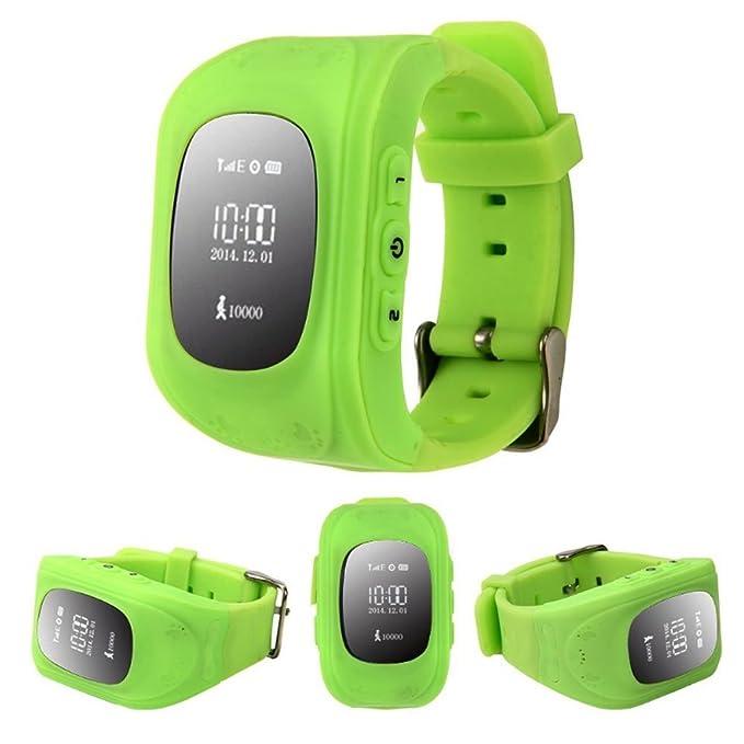 Q50 Smartwatches Reloj Infantil Pulsera Inteligente GPS / LBS Localizador Alarma para Seguridad de Niños: Amazon.es: Electrónica