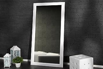 Dunord design specchio da parete stand specchio pure matt bianco 180